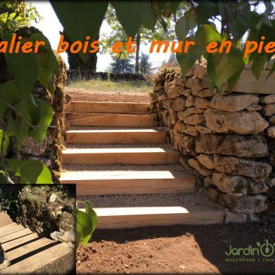 montage escalier bois